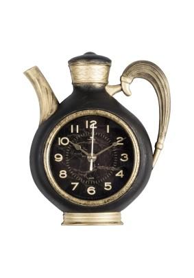 """Часы настенные чайник 2622-003 26,5х24см, корпус черный с золотом """"Gold"""" """"Рубин"""""""