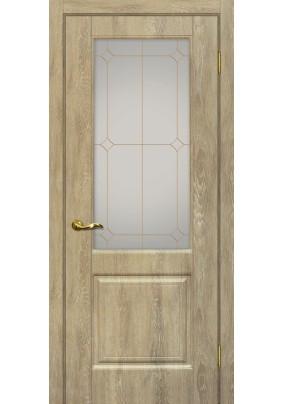 Дверное полотно ДО Версаль -1  600 х 2000/ Дуб песочный/ контур.золото