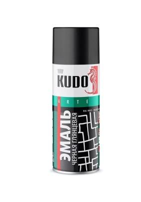Краска аэр. алкид. KUDO черная глянц  /520 мл/ KU -1002