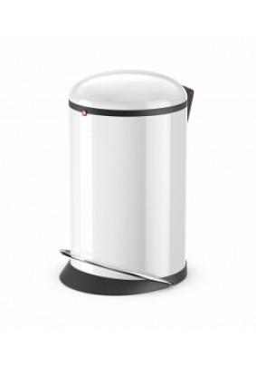 Контейнер для мусора Hailo Harmony M сталь белый 12л 0515-030
