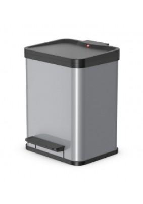Контейнер для мусора Hailo Oko uno Plus M сталь серебро 17л 0619-220