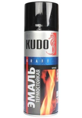 Краска аэр. термост. +600 KUDO черная / 520 мл / KU-5002