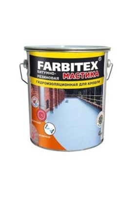 Мастика резино- битумная FARBITEX/17 кг/