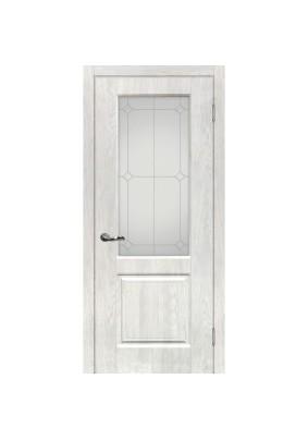 Дверное полотно ДО Версаль -1  600 х 2000/ Дуб жемчужный/ контур.серебро