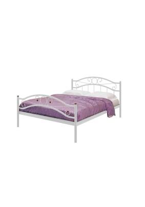 Кровать Милсон-Надежда PLUS двойная, металлическая/белый/1400х2000/