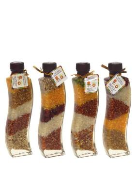 Бутылка декор. Крупы L6,5 W3,5 H22,5см/714748