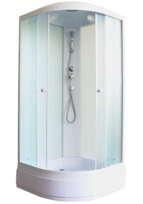 Кабина душевая 90х90х215 Parly ЕВM92,мат. стекло/поддон средний/зад. стенка стекло/без г/м