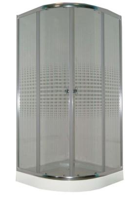 Душевое ограждение  90*90*193  Z911 Parly , прозрачное стекло с рисунком, низкий поддон
