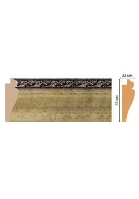 Багет рамный Cosca 75х22х2900/978-566/темное золото