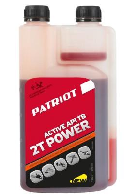 Масло для 2-х тактных двигателей 0,946л. PATRIOT POWER ACTIVE 2T дозаторная