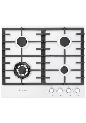Варочная панель газовая Gefest ПВГ 1214-01 (бел,эмал.поверх,чугун.реш)