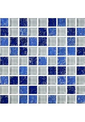 №450 Мозаика  стеклянная 30х30 (чип 15х15)