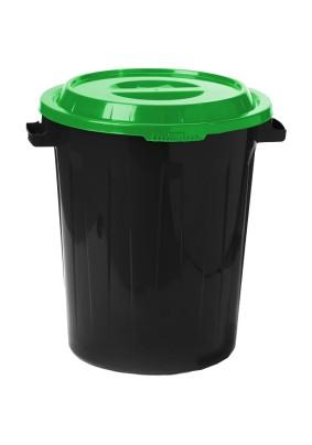 Бак для мусора с крышкой ярко-зеленый 90л