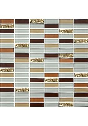 №2368 Мозаика  стеклянная 30х30 (чип 15х48)