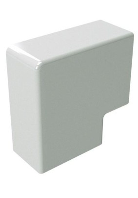 Угол плоский (поворот на 90град) 40х40 бел.