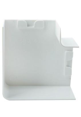 Угол плоский (поворот на 90град) 60х40 бел.