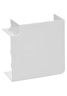 Угол плоский (поворот на 90град) 100х60 бел.