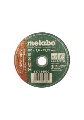 Круг отрезной 150х1,0х22,23мм METABO SP-Novorapid по нерж.
