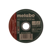 Круг отрезной 115х1,0х22,23мм METABO SP-Novorapid по нерж.