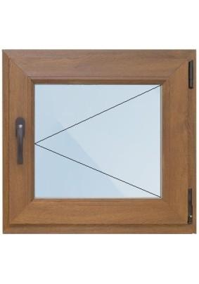 Окно лам. ПВХ-58мм/ Золотой дуб/ 1- стеклопакет/ ШхВ 500х600мм/ 100% правое поворотное/