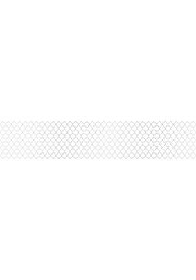 Панель ABS /3.0х0.6х0.0015м/Фартук Самаркандский узор серебро