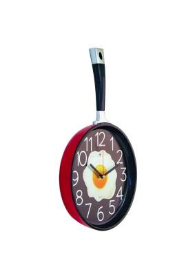 """Часы настенные 2543-004 """"Сковорода"""" 25х43см корпус красный с черным """"Рубин"""""""