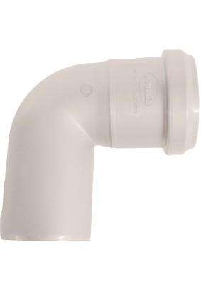 Отвод внутр. канализации Д  50  (87 гр.) белый Синикон