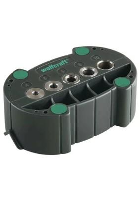 Шаблон для сверления для аккумуляторной дрели диам 4,5,6,8,10 мм WOLFCRAFT
