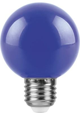 Лампа светодиод. 3Вт Feron G60 Е27 синяя