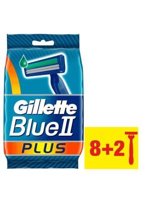 Станок бритвенный одноразовый Gillette Blue II Plus 8+2шт
