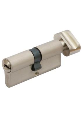 Механизм цил. FERRE ZN M80 ZC SN  ключ/завертка (40Тх40) сатин 5 ключей