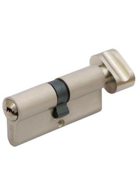 Механизм цил. FERRE ZN M90 ZC SN ключ/завертка (45Тх45) сатин 5 ключей