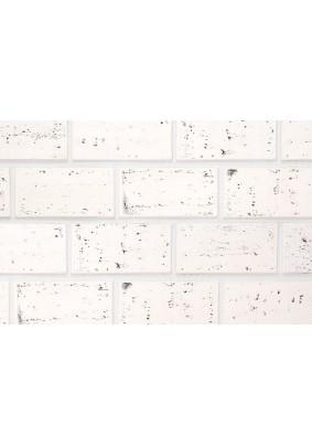 Травертин 1245 Белый с серым Плитка гипсовая 9,5х19,5 /уп=1 м=46шт/под=50м/