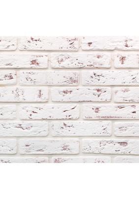 Джерси 917 Белый с коричневым Плитка гипсовая 4,5х18,5 /уп=0,5 м=47шт/под=70м/