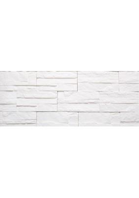 Боро 01 Белый Плитка гипсовая 9,6х20 /уп=0,5 м=26шт/под=50м/