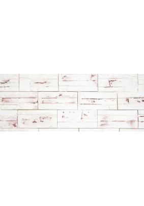 Боро 02 Белый с коричневым Плитка гипсовая 9,6х20 /уп=0,5 м=26шт/под=50м/