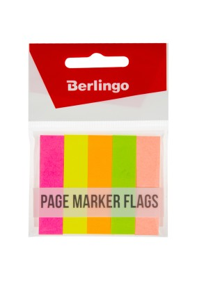 Флажки-закладки Berlingo, 50*12мм/50л*5 цв/266936/