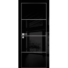 Дверное полотно HGХ-2 700х2000/Графит глянец/молдинг/Профило порте