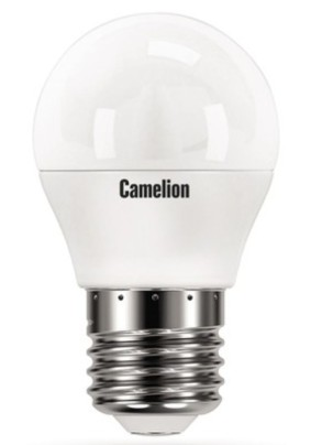 Лампа светодиод.7.0Вт Camelion Led/3000K/Е27/G45*