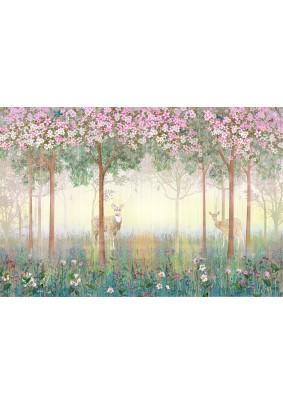 Декоративное панно Fresco Сказочный лес 016116-4/ 4,0м х 2,7м