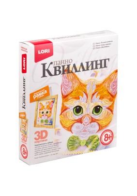 Квиллинг-панно Lori 3D Рыжий котенок с рамкой