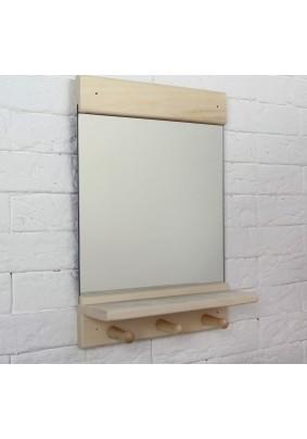 """Зеркало """"Классика"""" с полкой и вешалкой 36х25см/3945609"""