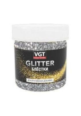 Добавка декоративная СЕРЕБРО для лессирующих составов VGT PAT GLITTER