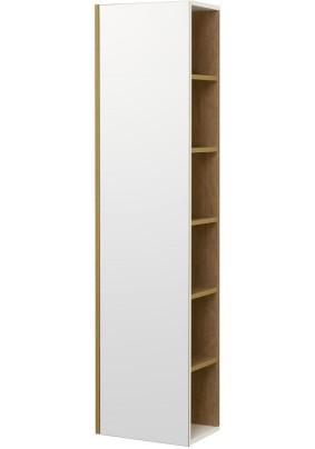 """Шкаф-колонна """"Сканди"""" с зеркалом Белый/Дуб Рустикальный /1A253403SDZ90"""