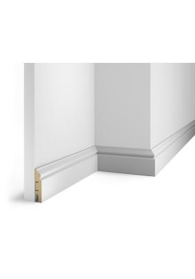 Плинтус МДФ ARTIVA №5 Белый под покраску 70x16x2400 мм