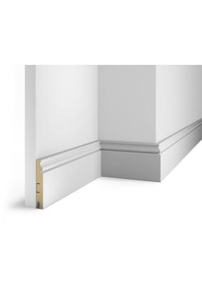 Плинтус МДФ ARTIVA №10 Белый под покраску 100x16x2400 мм