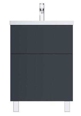 Тумба GEM, напольная, 60 см, 2 ящика push-to-open, графит матовый