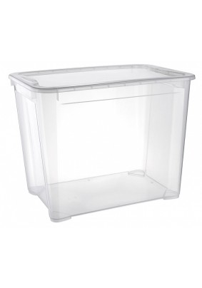 Ящик универсальный с крышкой Кристалл 55х39х43см 70л