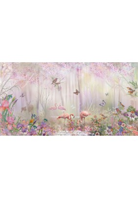 Декоративное панно Fresco Волшебный сад 015175-3/ 3,0м х 1,6м фактура винил Россия