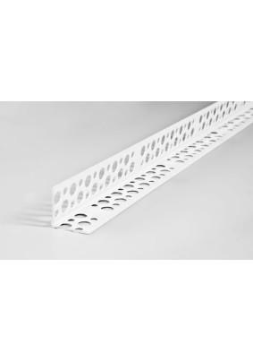 Уголок ПВХ штукатурный прямой белый 25х25 3м